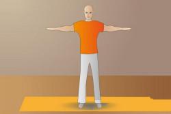Упражнение с вытягиванием рук