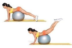Упражнения на фитболе для укрепления мышц спины и живота