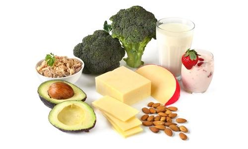 Употребление продуктов содержащих кальций