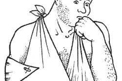 Самодельная косыночная повязка на руку