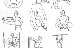 Физические упражнения для плечевого сустава