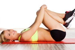Упражнения в положении лежа